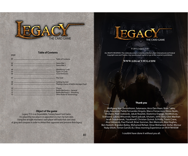 Document Design / Rulebooks